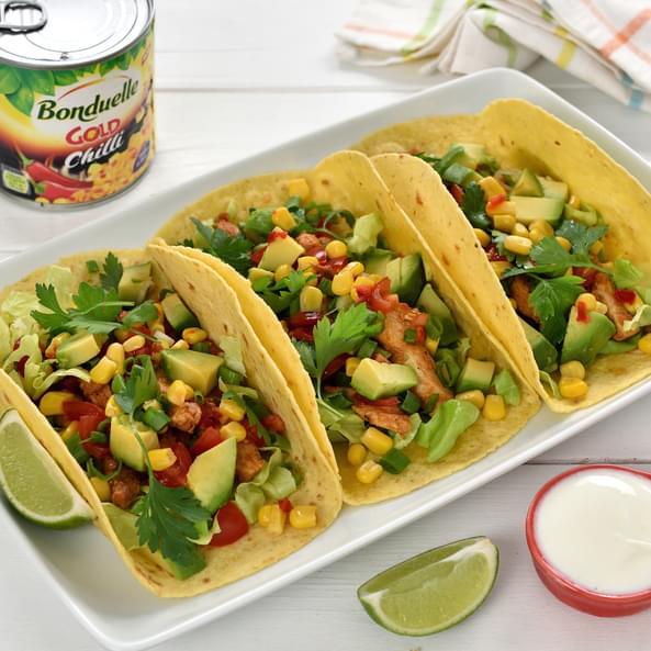 Tacos cu pui și porumb