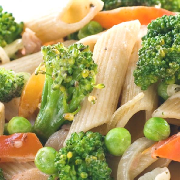 Паста пенне с овощами