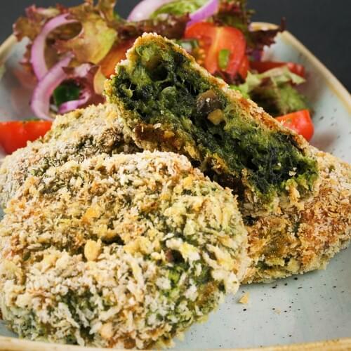 Povrtni kotleti sa špinatom i gljivama