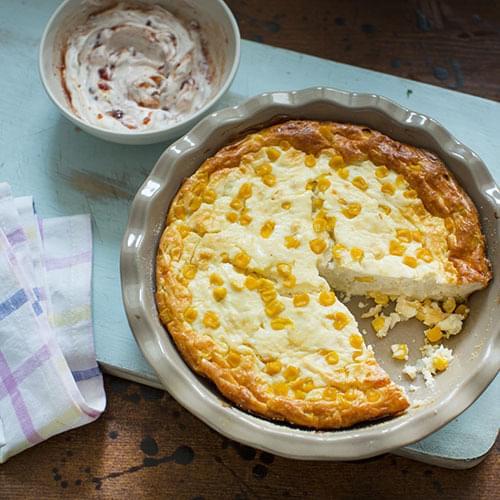 Cottage cheese σαγανάκι με cranberry σως