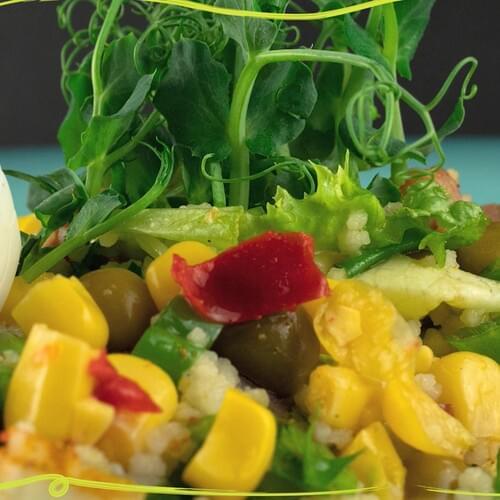ΛΑΧΑΝΙSTAS Μεξικάνικη σαλάτα με κουσκούς