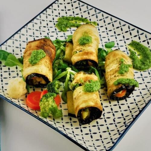 Rolice od patlidžana s povrćem