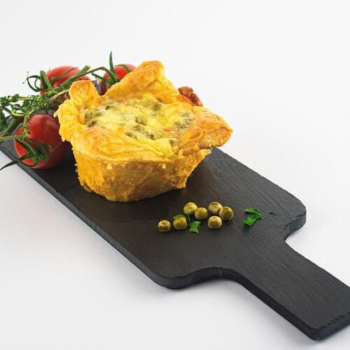 Foietaj cu brânză și mazăre