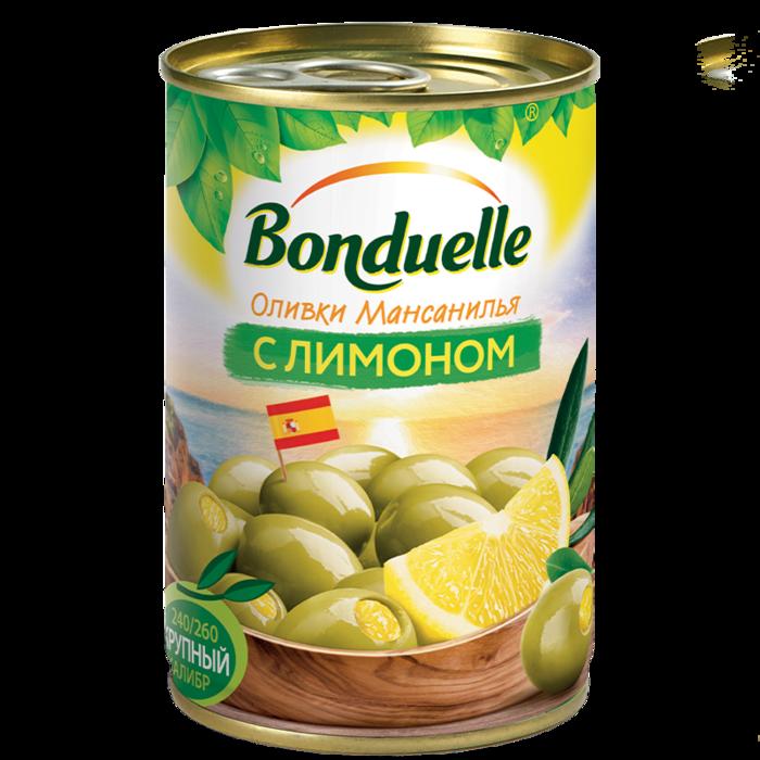 Оливки Мансанилья с лимоном