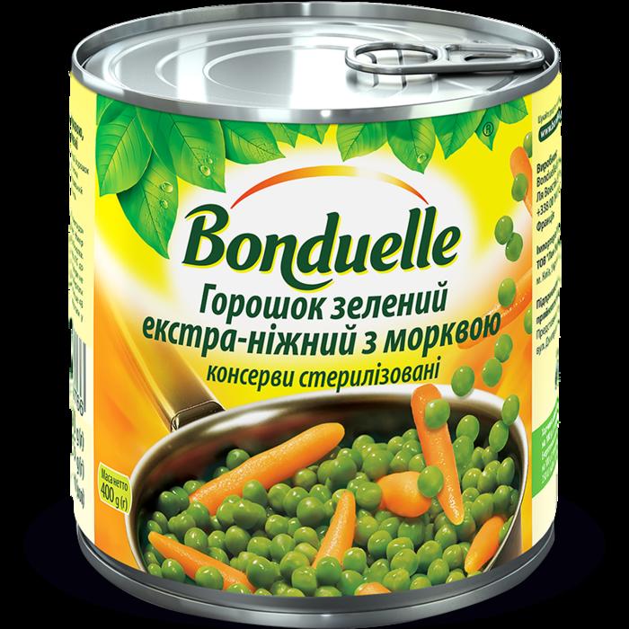 Горошек зеленый экстра-нежный с морковью